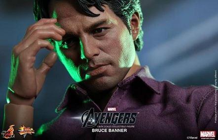 La figurine de Bruce Banner sans sa veste.