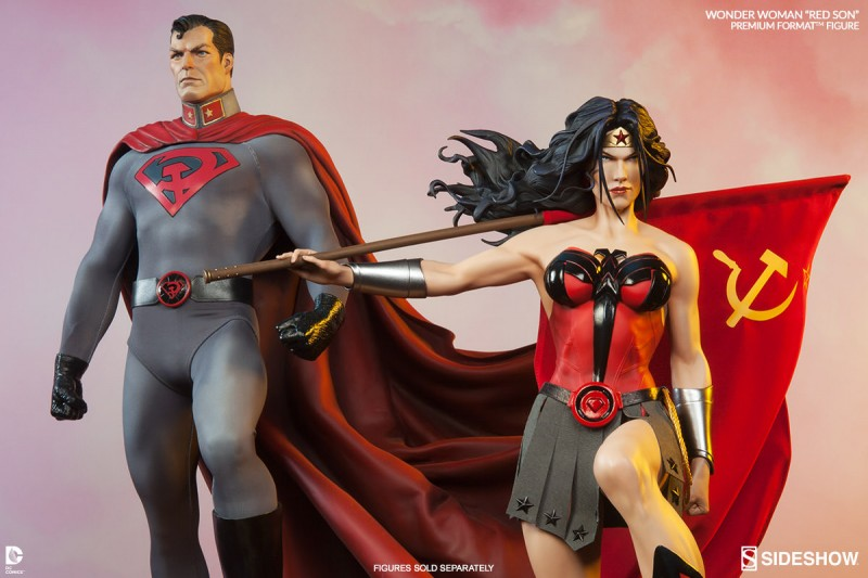 Superman et Wonder Woman Red Son par Sideshow